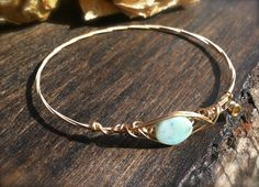 OPAL SIMPLISTIC Guitar String Bangle  Blue by DesignsByJewelree, $17.00