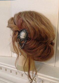 Vintage style Cameo Brooch Headband Gypsy by TheMuddyViolet