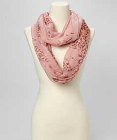 Take a look at this Peach Bird Infinity Scarf by David & Young on #zulily today!