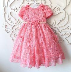 Vestido renascença rosa goiaba - Ateliê de arte - by Zeuda Rebouças