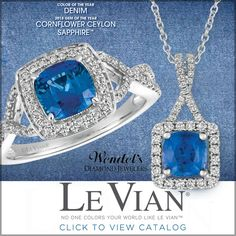 Love the intense blue of Le Vian Cornflower Ceylon Sapphire™! Shop our Le Vian Pop Up Shop ALL DAY Monday - October 30th Click here to browse our digital catalog: http://flip.collectedconcepts.com/WendelsRocksLeVian17/mobile/index.html