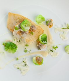 The key to this roast turbot recipe is fresh ingredients - visit your local fishmonger for the turbot and cockles. - Shaun Rankin