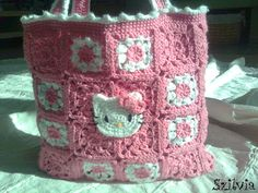 Crochet Hello Kitty bag