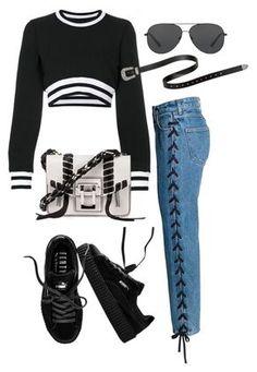 Chanel, cã‰line, olivia burton and steve madden Diy Outfits, Kpop Fashion Outfits, Hip Hop Outfits, Cute Casual Outfits, Mode Outfits, Korean Outfits, Cute Fashion, Look Fashion, Stylish Outfits