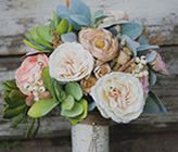 How To Make A Fake Flower Bridal Bouquet @Hannah Northern @Kimberly Gill also a thought. cheaper too.