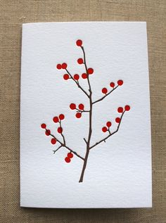 Winter Berries Letterpress Card Set by Ornamentletterpress on Etsy Valentines Watercolor, Watercolor Christmas Cards, Christmas Drawing, Christmas Cards To Make, Watercolor Cards, Xmas Cards, Christmas Art, Hand Made Greeting Cards, Making Greeting Cards
