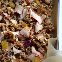 Maple Apple Crunchy Superfood Granola | taste love and nourish