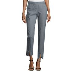 cropped pants that has a upside v cut that will look charming while your wearing it with your tops