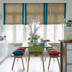 I'm digging the roman shades..surly I could make them.
