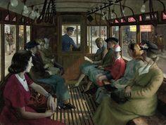 The Tram Ride, Robert Sawyers. English (1923 - 2002)