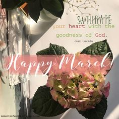 You crown the year with Your goodness, And Your paths drip with  abundance.   -Psalm 65:11  HAPPY MARCH! #haveablessedmarch #happymarch #hellomarch #march #inspirationalquote