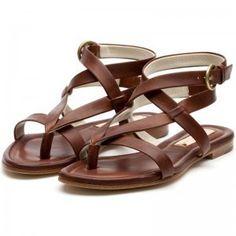 Talullah Tan Elbamatt Gladiator Sandals - Polyvore