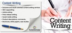 We are well known for creating unique, original, and plagiarism free content with good quality, Content Writing Aurangabad, Content Writing Company India Article Writing, Blog Writing, Writing Services, Seo Services, Copywriting, Growing Your Business, Writers, Social Media, Content