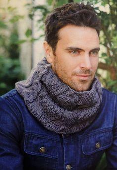 Cuello Tejido para Hombres con Punto Fantasía - iKnitts.com