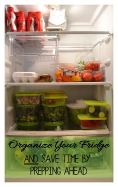 Organize your fridge with produce keepers, and save prep time when cooking!