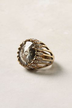 """""""Scrying Ring"""" from Anthro. Jewelry Box, Jewelry Rings, Vintage Jewelry, Jewelry Accessories, Fashion Accessories, Jewelry Design, Unique Jewelry, Vintage Bracelet, Gold Jewelry"""