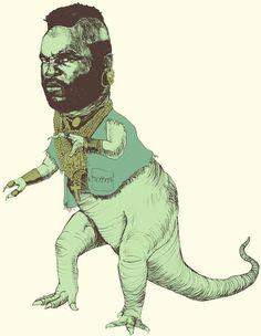 Mr T Rex by jonstich: Roar!