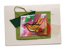 fabric art card by jeanelle mccall