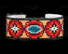 Native American Beaded Cuff Bracelet -Navajo (ij353) - Mission Del Rey Southwest