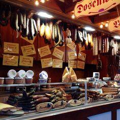 Sausages #germany #marketstalls #weihnachtsmarkt #frankfurt #marketfood #sausages #germany by ingrid_liddard_walker
