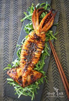 Korean Dishes, Korean Food, Tapas, Veggie Cups, K Food, Edible Food, Seafood Dinner, Healthy Dishes, Light Recipes
