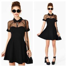 "Nasty Gal Lets Dance Dress •New!! Never Worn!                                                          •100% Polyester. Hand Wash.                                             •Length 30 5/8"", Mesh portion shoulder to start of solid bust 6 5/8"", Underarm to underarm 14 5/8"", Waist 23 1/4"", Sleeve length 10 3/4"" Nasty Gal Dresses"