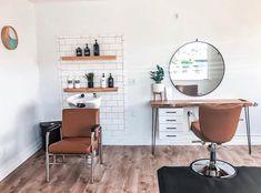 """interior design tips"" Home Beauty Salon, Home Hair Salons, Hair Salon Interior, Beauty Salon Decor, Salon Interior Design, In Home Salon, At Home Salon Station, Small Beauty Salon Ideas, Small Salon Designs"
