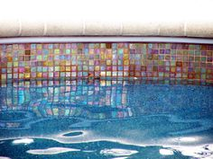 Water Line Pool Tile   ... glass tiles form the waterline tile for ...