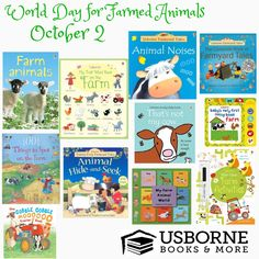 Celebrate World Day for Farmed Animals with one of these Usborne books!! Use the link below to place an order! https://j4138.myubam.com/101769