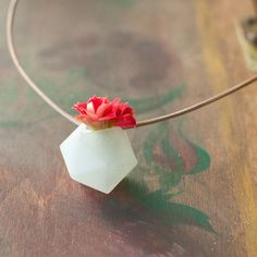 Plant as a necklace?? Why not...  Mini Icosahedron Clear  by Wearable Planter