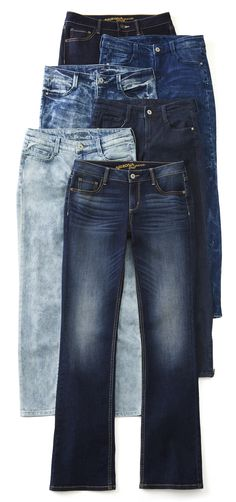 Make any look your own when you pair a favorite top with the versatile style and comfortable feel of our bootcut jeans.