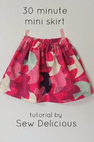Mend and Make New: '30 Minute Mini Skirt' - A Tutorial by Ros from Sew Delicious!