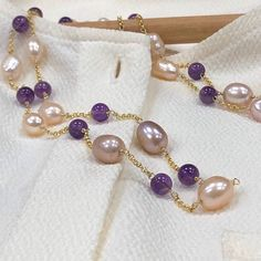 Pearl Jewelry Gemstone Jewelry ~ Hand Made in Hong Kong by HazelGisele Pearl Jewelry, Gemstone Jewelry, Pearl Necklace, Clover Necklace, Marketing And Advertising, Handmade Items, Etsy Seller, Beaded Bracelets, Gemstones