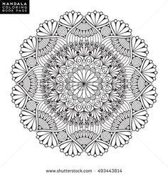 Flower Mandala Vintage Decorative Elements Oriental Pattern Vector Illustration Islam Arabic Adult Coloring Book