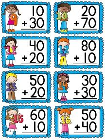 Adding and subtracting multiples of 10 centers and activities for first grade 2nd Grade Classroom, 1st Grade Math, First Grade, Second Grade, English Grammar For Kids, Engage Ny, Math Charts, Math Tutor, Adding And Subtracting