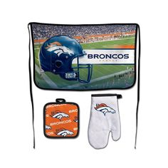 Denver Broncos NFL Premium 3-Piece Barbeque Tailgate Set