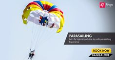 #Parasailing is just not another activity, it's and experience in itself. Fly through the #sky and feel the rush running in your veins. Explore more if this experience gets your heart pumping.