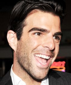 That smile! :D Zachary Quinto!