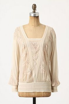 Gracey Chiffon Blouse from Anthropologie. Not very 'me' but I love it!