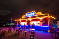 Diner at Eat Street Drive-In, Brisbane, Queensland, Australia - Wandering the World