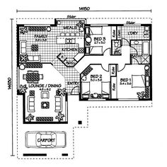 The Fitzroy « Australian House Plans Australian House Plans, Australian Homes, Small House Design, Modern House Design, Family Bed, Architectural Floor Plans, Autocad, Building A House, Sims Ideas