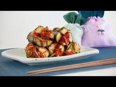 373 - Korean Cucumber Kimchi (Oi-Sobaegi) / خيار كيمتشي الكوري - Cooking with Alia Korean Cucumber, Cucumber Kimchi, Cook Fresh Spinach, Stuffing Ingredients, Garlic Chives, Korean Food, Korean Recipes, Fish Sauce, Fresh Ginger