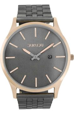 Picture of DUKUDU DU-016 Sven Rose Gold Grey Stainless Steel Bracelet