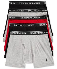 da830bf59f Polo Ralph Lauren Men's 5 Pack Boxer Briefs & Reviews - Underwear & Socks -  Men - Macy's