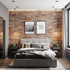Things That You Need To Know When It Comes To Industrial Decorating You can use home interior design in your home. Even with the smallest amount of experience, you can beautify your home. Brick Interior, Interior Modern, Interior Design Living Room, Industrial Bedroom Design, French Interior, Minimalist Interior, Scandinavian Interior, Modern Industrial, Brick Wallpaper Bedroom