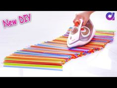 10 New drinking straw reuse ideas Diy Crafts For Gifts, Diy Arts And Crafts, Crafts To Make, Fun Crafts, Crafts For Kids, Drinking Straw Crafts, Glue Gun Crafts, Art And Craft Videos, Hobbies To Try