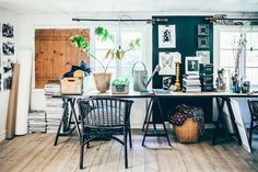 The boho home and atelier of a Swedish artist & florist