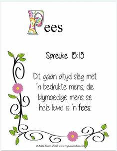 Afrikaanse Quotes, Spiritual Inspiration, Proverbs, Spirituality, Bible, My Love, Words, Doodle, Printables