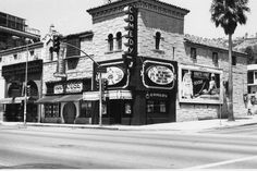 Historic Photograph of Laugh Factory On Sunset Blvd.