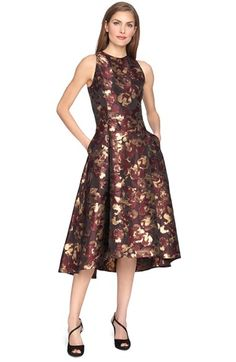 7dce0ebea4 Tahari Metallic Jacquard Fit   Flare Dress